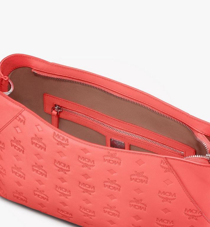 MCM Klara Shoulder Bag in Monogram Leather Red MWS9SKM79O3001 Alternate View 5