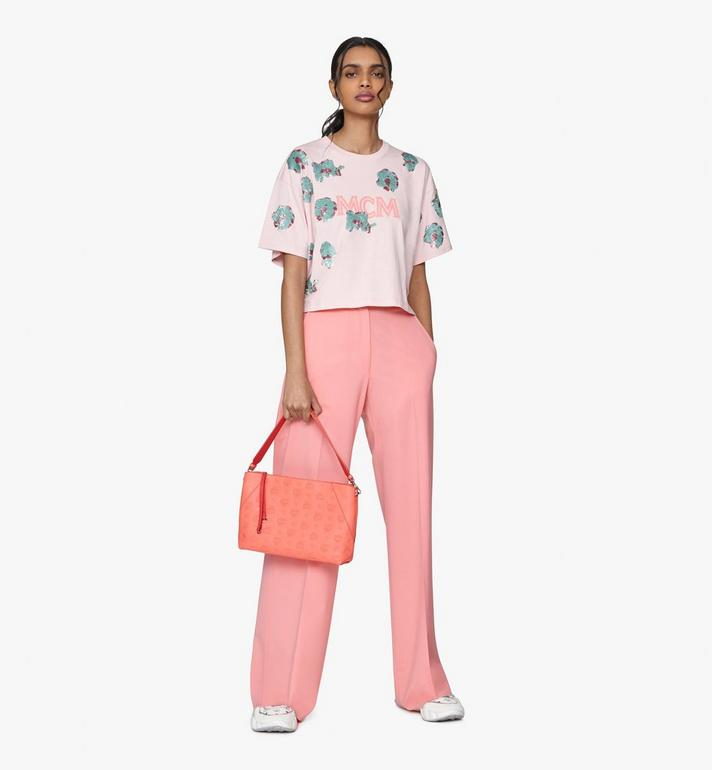 MCM Klara Shoulder Bag in Monogram Leather Pink MWS9SKM79O3001 Alternate View 6