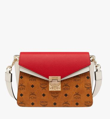 Mezzanin Shoulder Bag in Visetos Leather Block