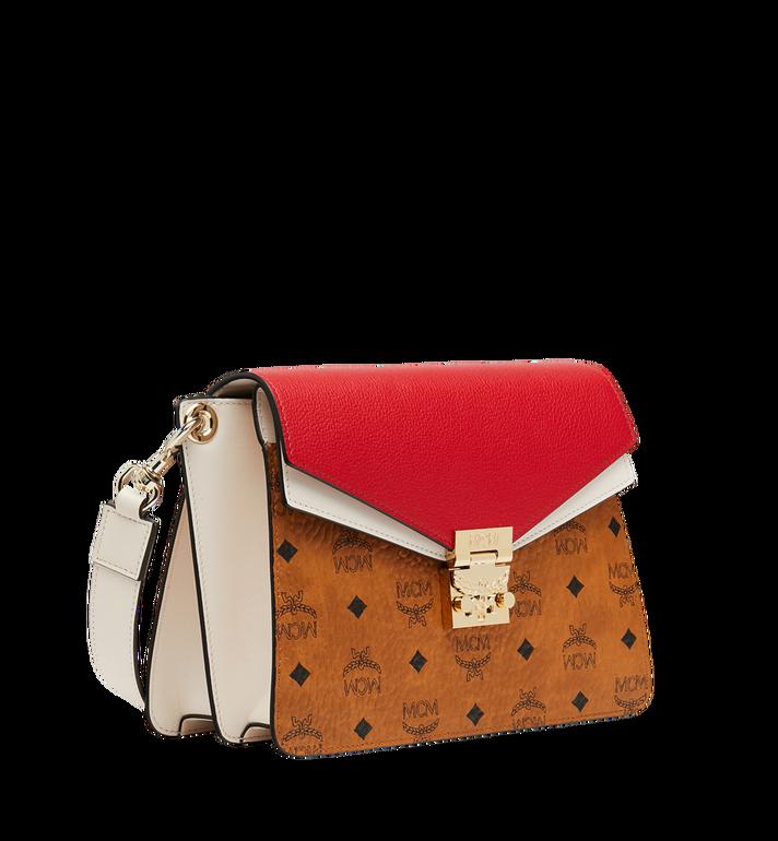 MCM Mezzanin Shoulder Bag in Visetos Leather Block Cognac MWS9SMZ56CD001 Alternate View 2