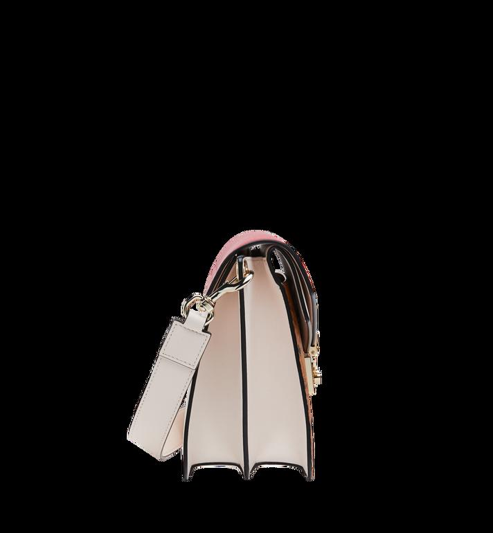 MCM Mezzanin Shoulder Bag in Visetos Leather Block Cognac MWS9SMZ56CD001 Alternate View 3