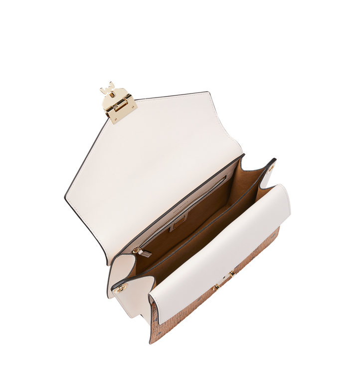 MCM Mezzanin Shoulder Bag in Visetos Leather Block Cognac MWS9SMZ56CD001 Alternate View 5