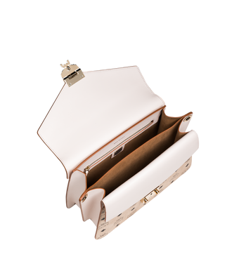 MCM Mezzanin Shoulder Bag in Visetos Leather Block Alternate View 5