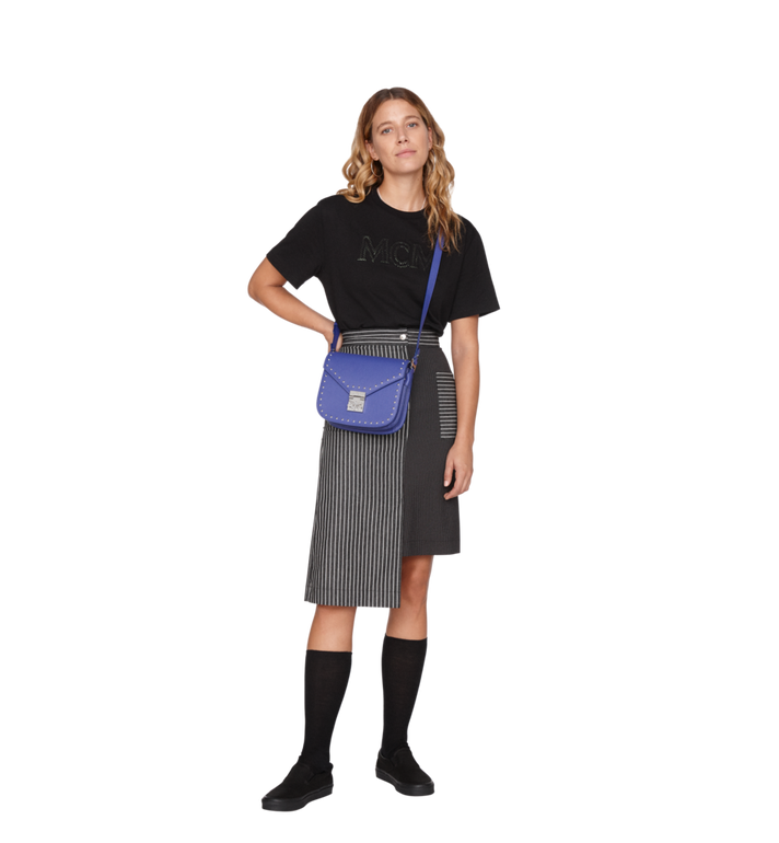 MCM Patricia Shoulder Bag in Studded Outline Leather Alternate View 6