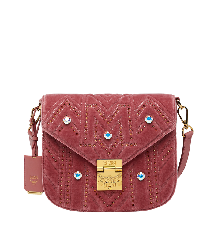 MCM Patricia Schultertasche in Velvet Crystal Studs AlternateView