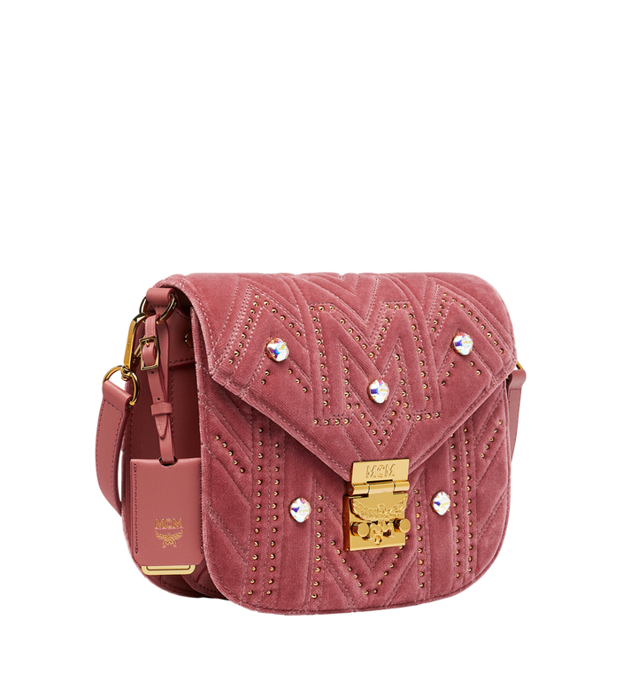 MCM Patricia Schultertasche in Velvet Crystal Studs AlternateView2