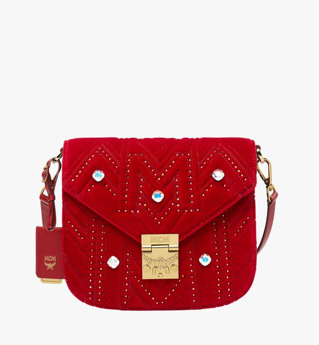 Patricia Shoulder Bag In Velvet Crystal Studs