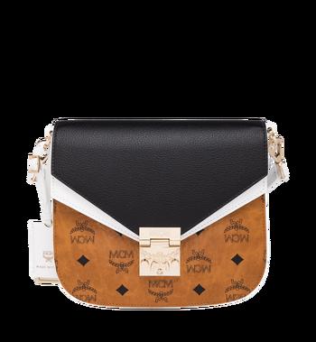MCM Patricia Shoulder Bag in Visetos Leather Block Alternate View