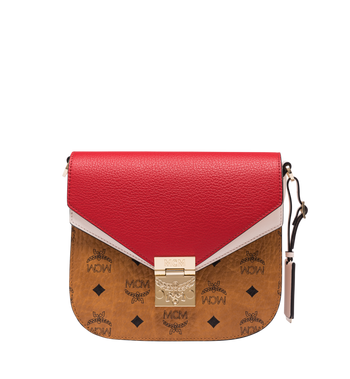 MCM Patricia Shoulder Bag in Visetos Leather Block AlternateView