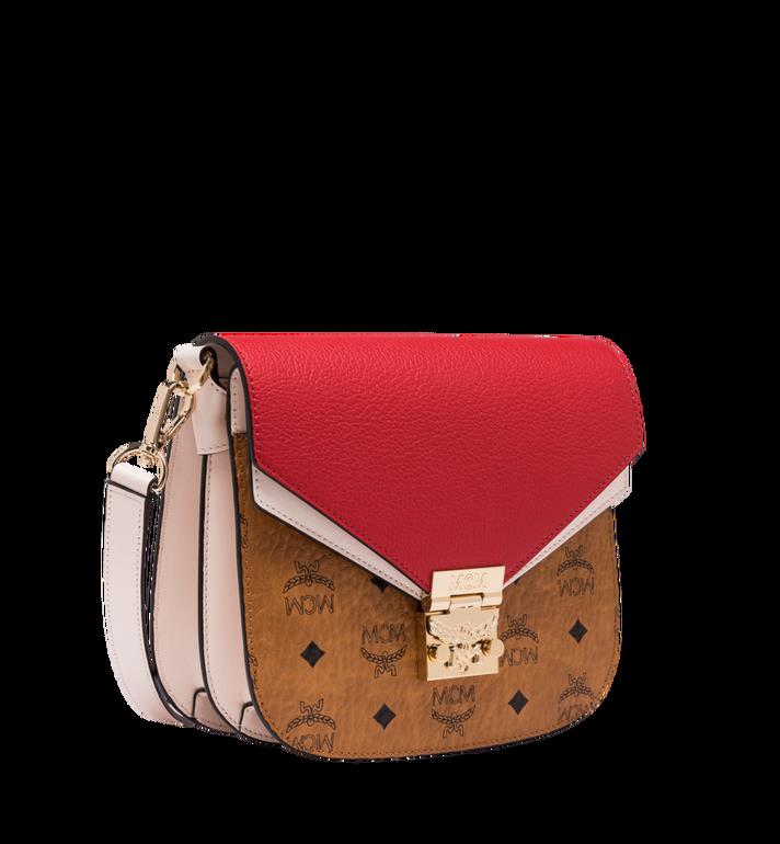 MCM Patricia Shoulder Bag in Visetos Leather Block Cognac MWS9SPA21CD001 Alternate View 2