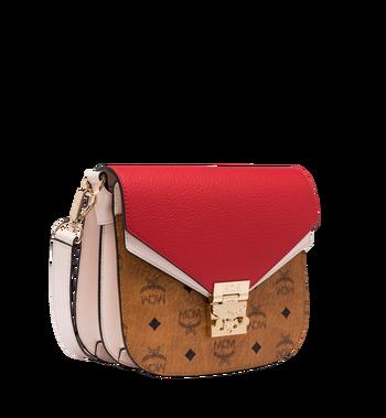MCM Patricia Shoulder Bag in Visetos Leather Block AlternateView2
