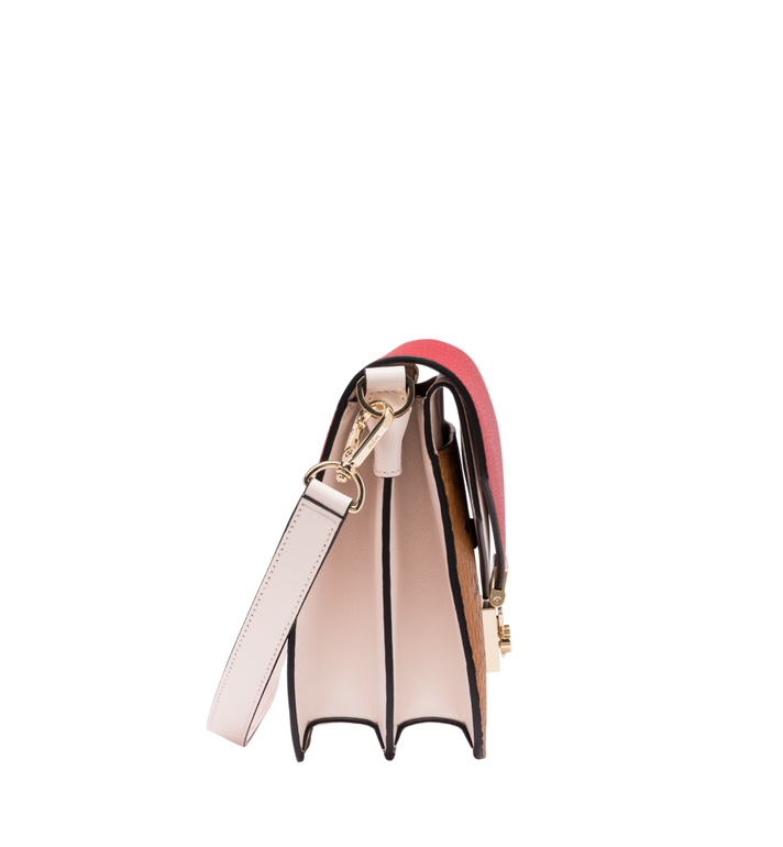 MCM Patricia Shoulder Bag in Visetos Leather Block AlternateView3
