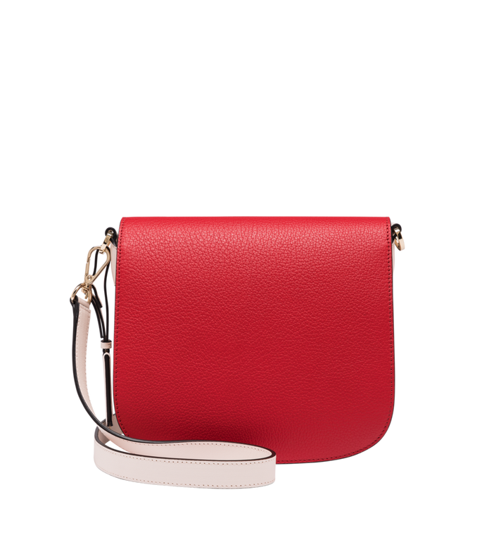 MCM Patricia Shoulder Bag in Visetos Leather Block Cognac MWS9SPA21CD001 Alternate View 4