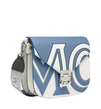 MCM Patricia Shoulder Bag in Contrast Logo Leather Alternate View 2