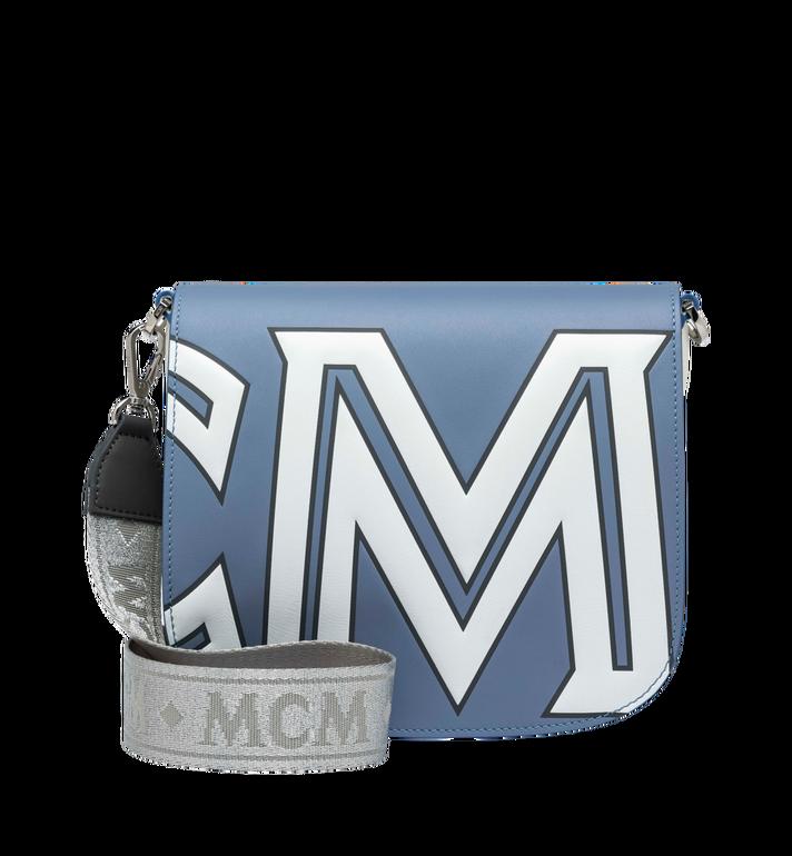 MCM 패트리샤 콘트라스트 로고 레더 숄더백 Alternate View 4