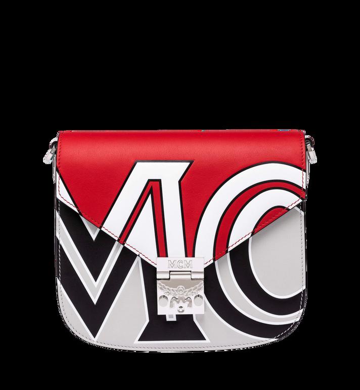 MCM Patricia Shoulder Bag in Contrast Logo Leather Alternate View