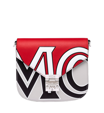 MCM Patricia Shoulder Bag in Contrast Logo Leather Alternate View
