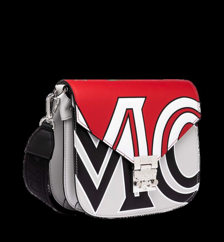 MCM Patricia Shoulder Bag in Contrast Logo Leather Red MWS9SPA37RU001 Alternate View 2