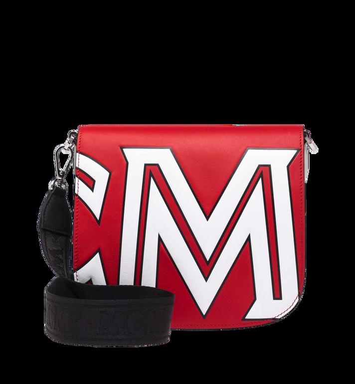 MCM Patricia Shoulder Bag in Contrast Logo Leather Red MWS9SPA37RU001 Alternate View 4