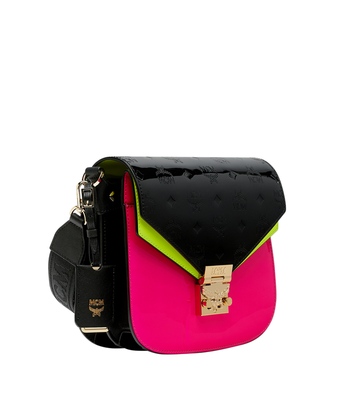 MCM Patricia Shoulder Bag in Monogram Patent Leather Alternate View 2