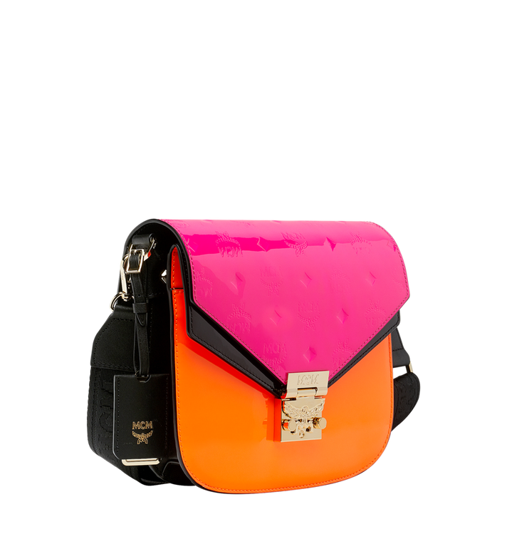 MCM Patricia Shoulder Bag in Monogram Patent Leather AlternateView2