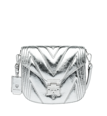 MCM Patricia Shoulder Bag in Quilted Metallic Leather Alternate View