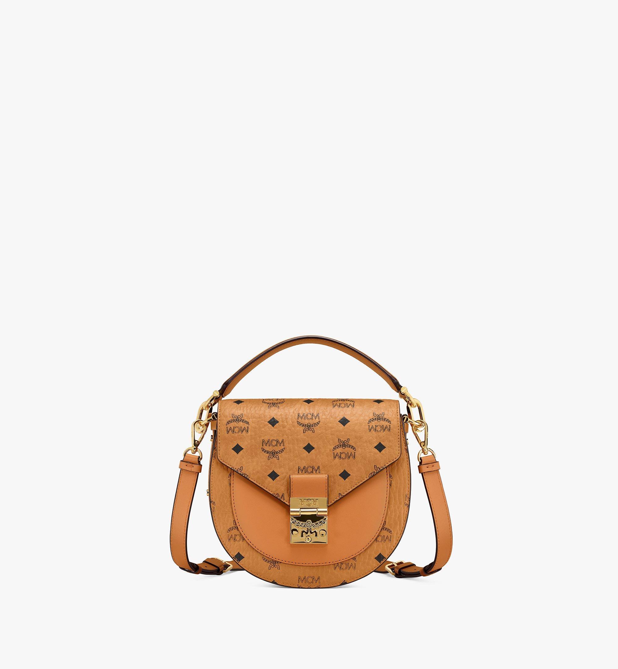 MCM Patricia Shoulder Bag in Visetos Cognac MWSAAPA01CO001 Alternate View 1