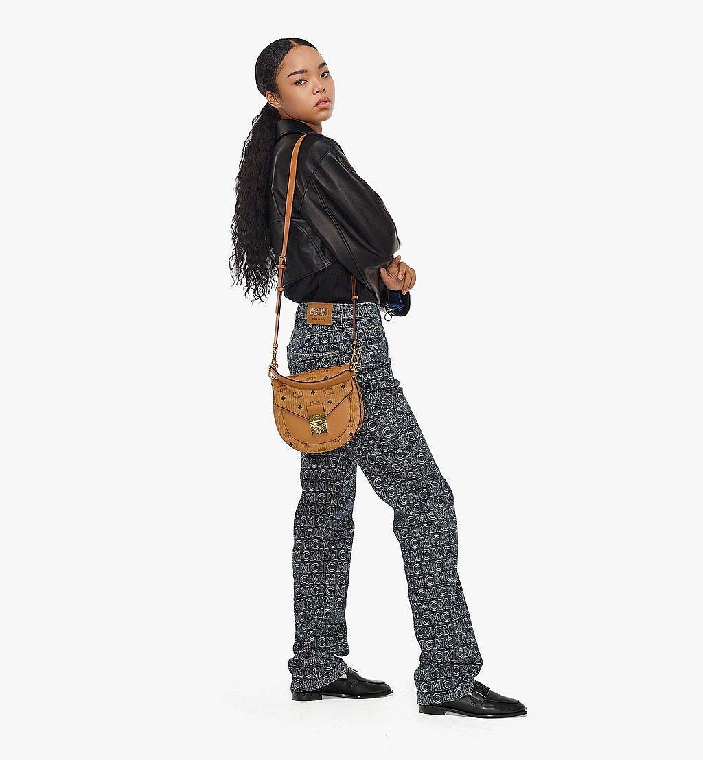MCM Patricia Shoulder Bag in Visetos Black MWSAAPA01CO001 Alternate View 3