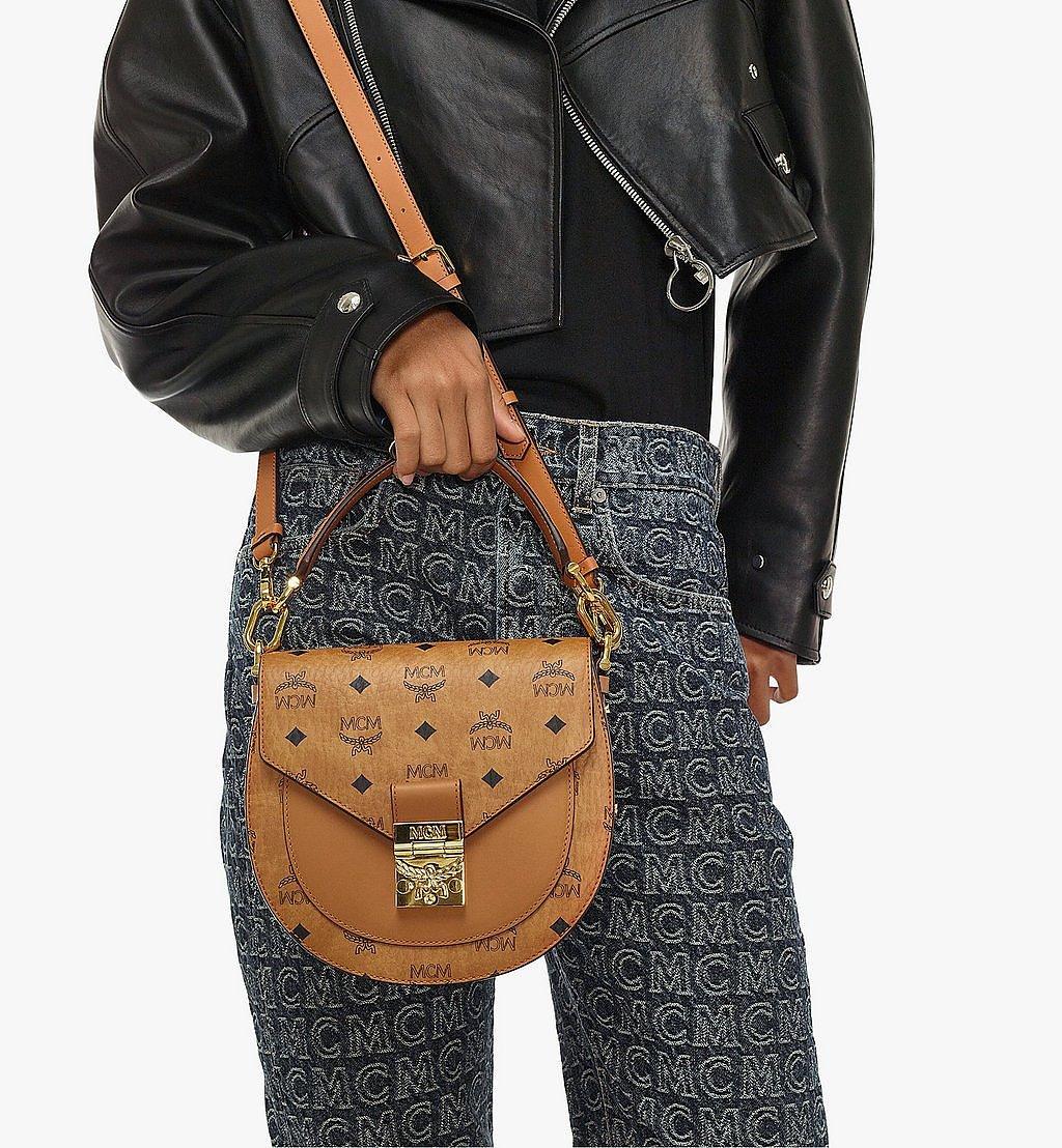 MCM Patricia Shoulder Bag in Visetos Black MWSAAPA01CO001 Alternate View 4