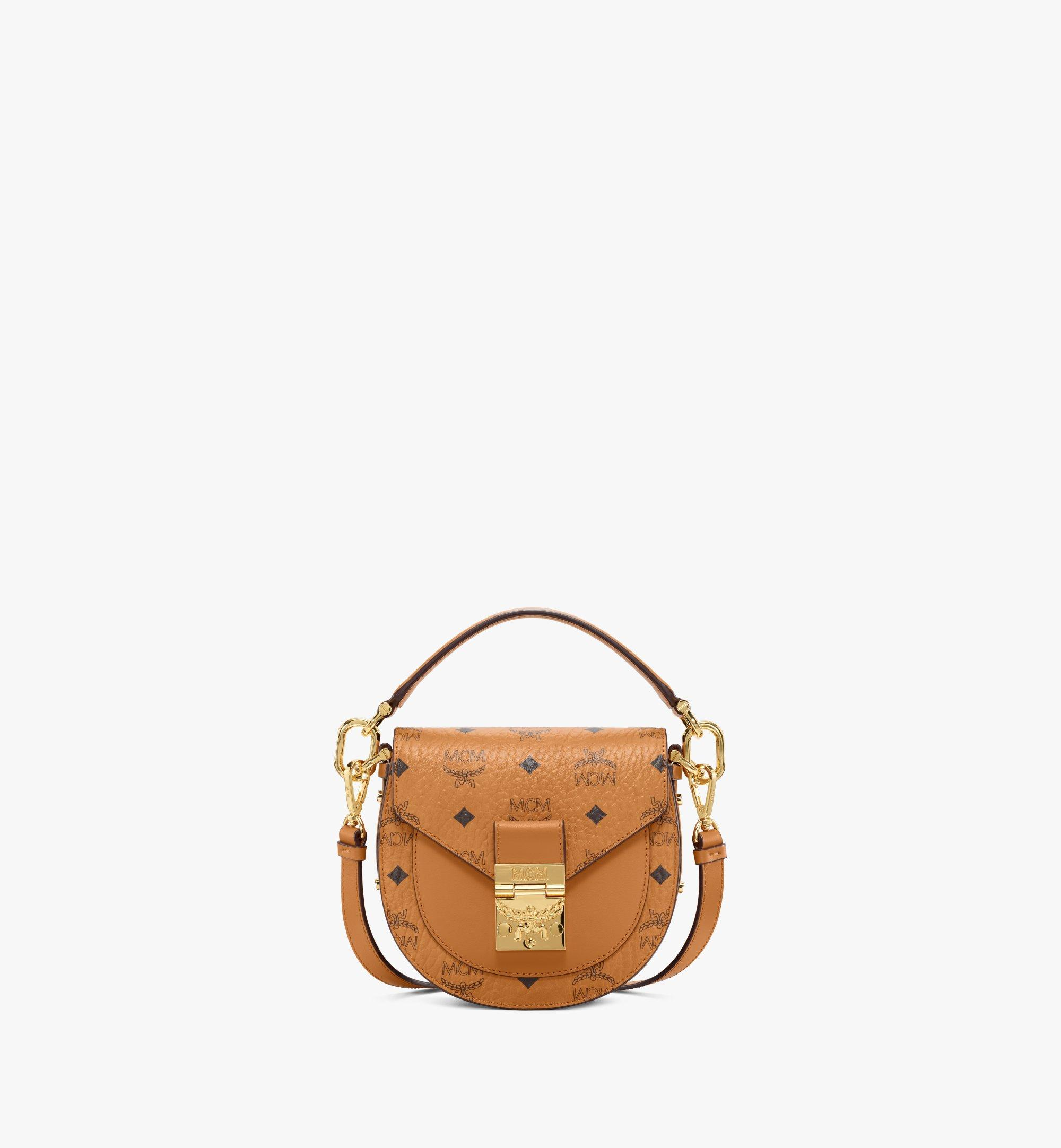 MCM Patricia Shoulder Bag in Visetos Cognac MWSAAPA02CO001 Alternate View 1
