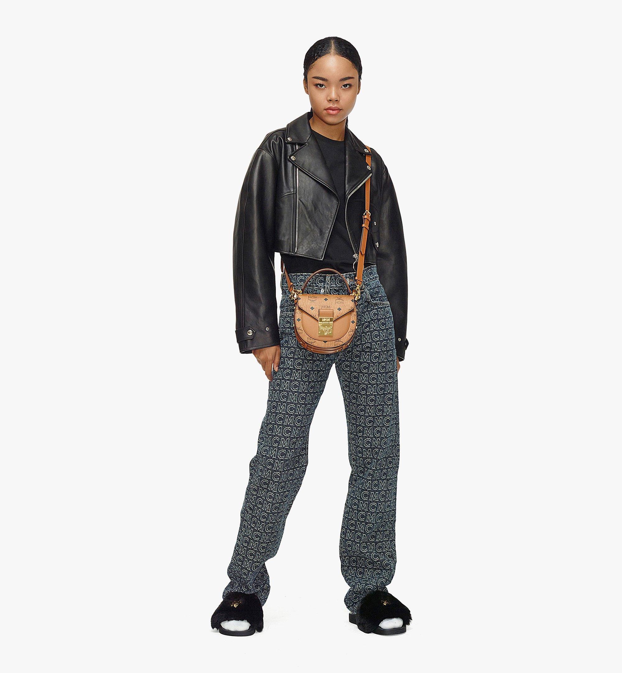 MCM Patricia Shoulder Bag in Visetos Cognac MWSAAPA02CO001 Alternate View 3