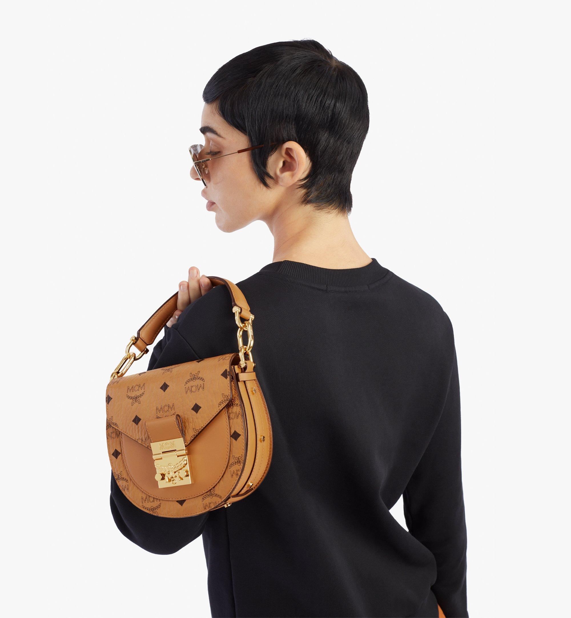 MCM Patricia Shoulder Bag in Visetos Cognac MWSAAPA02CO001 Alternate View 2