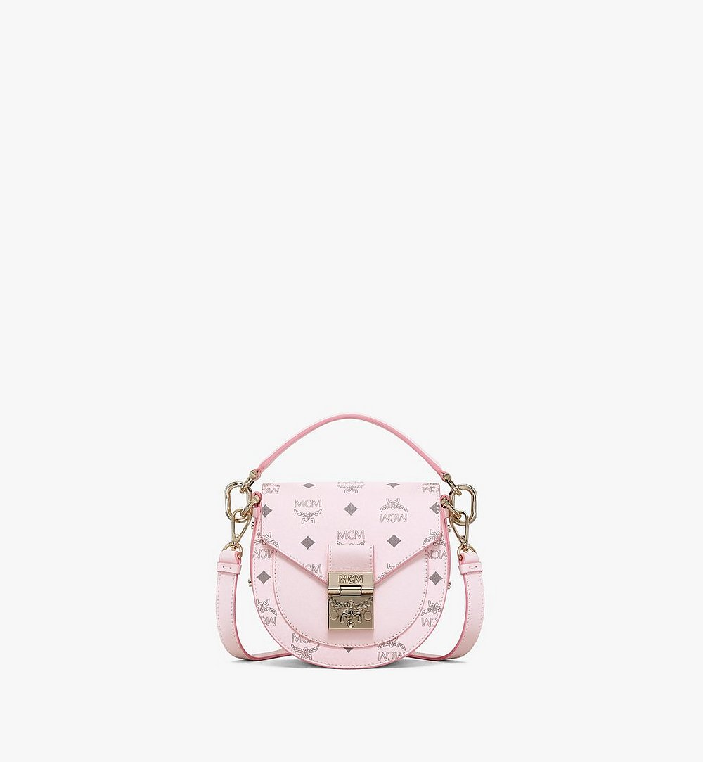 MCM Patricia Shoulder Bag in Visetos Pink MWSAAPA02QH001 Alternate View 1