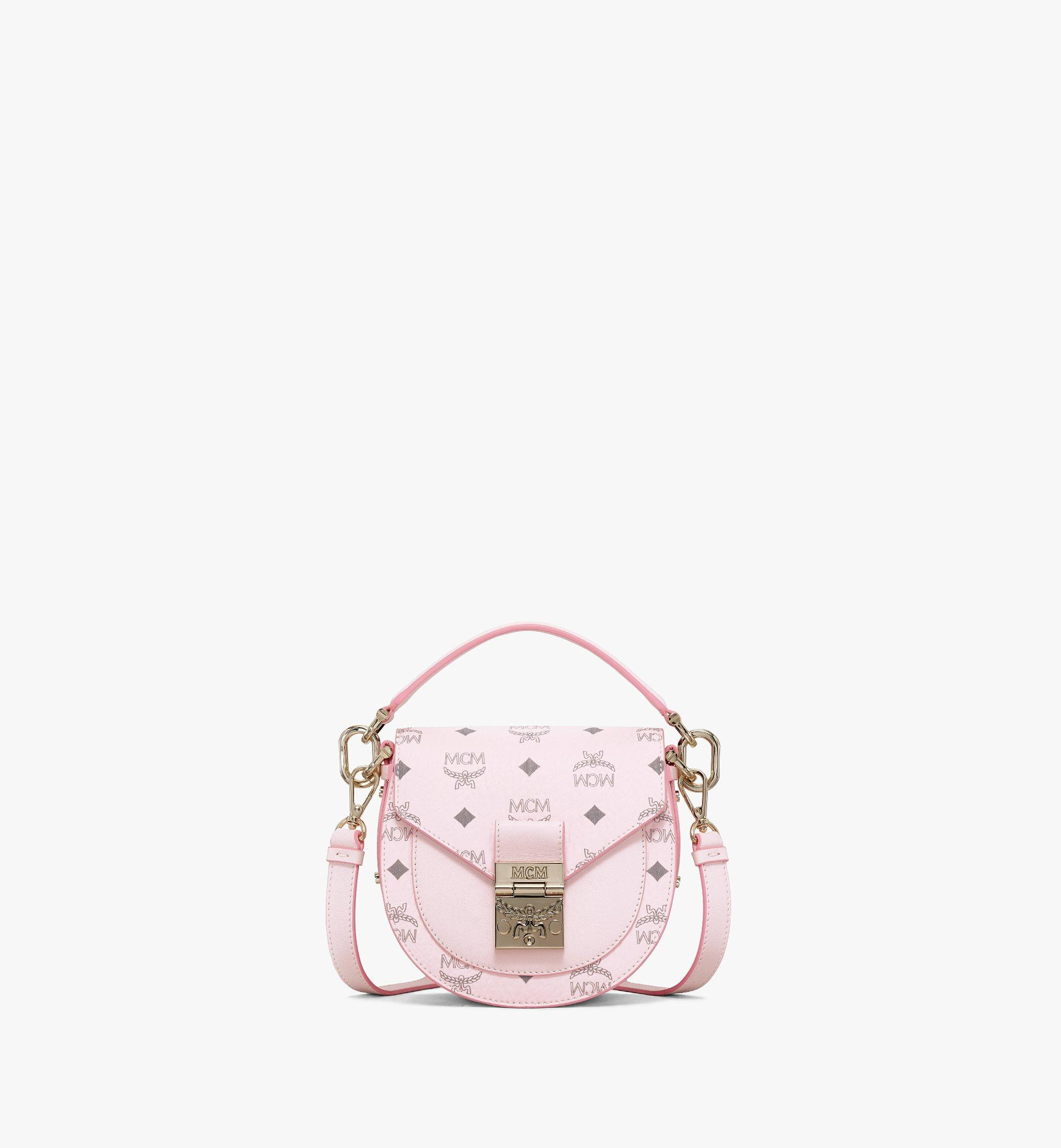 MCM Patricia Shoulder Bag in Visetos Pink MWSAAPA02QH001 Alternate View 1