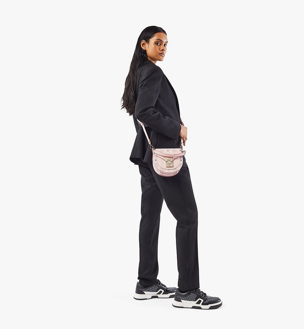 MCM Patricia Shoulder Bag in Visetos Pink MWSAAPA02QH001 Alternate View 3