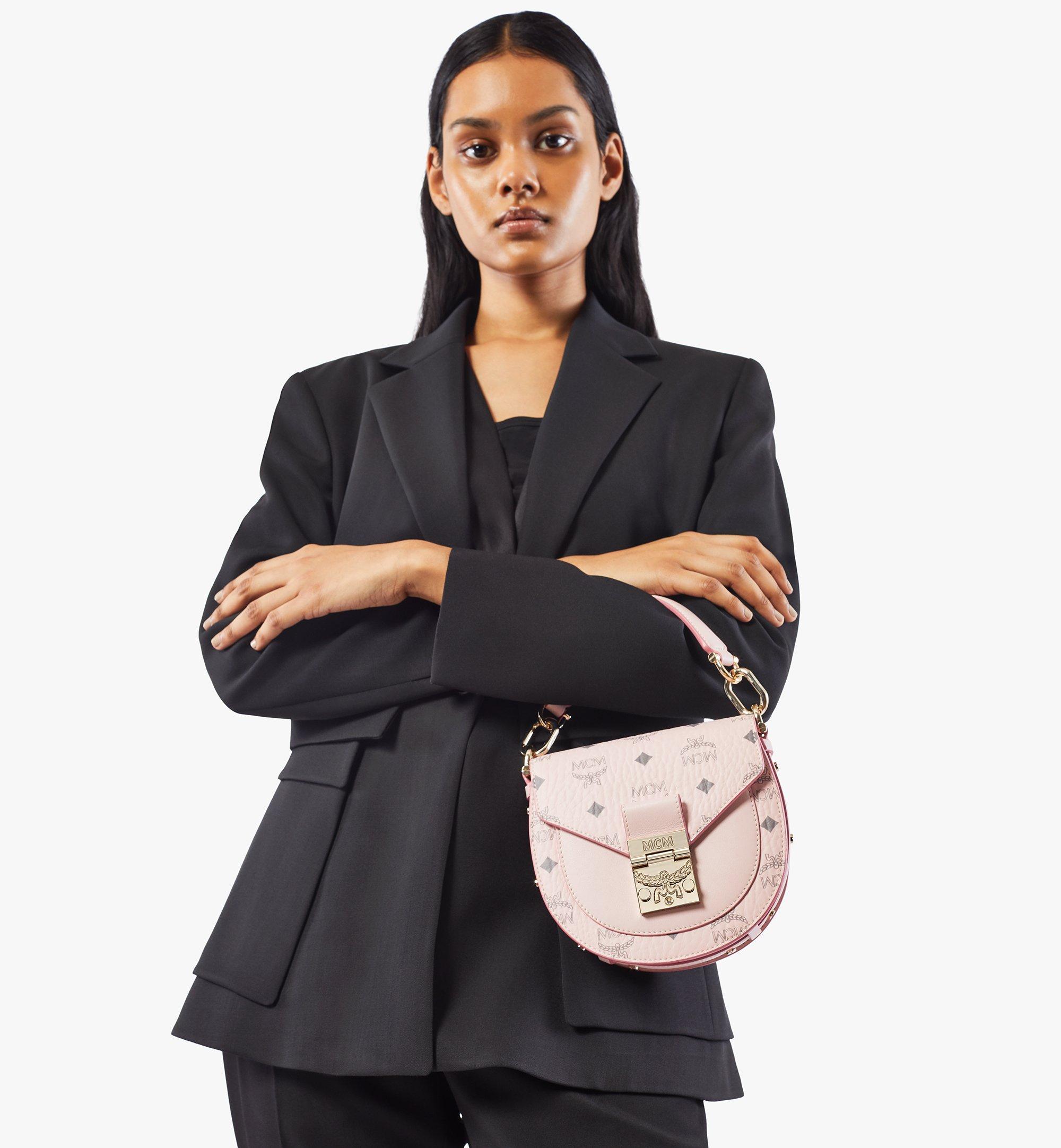 MCM Patricia Shoulder Bag in Visetos Pink MWSAAPA02QH001 Alternate View 2