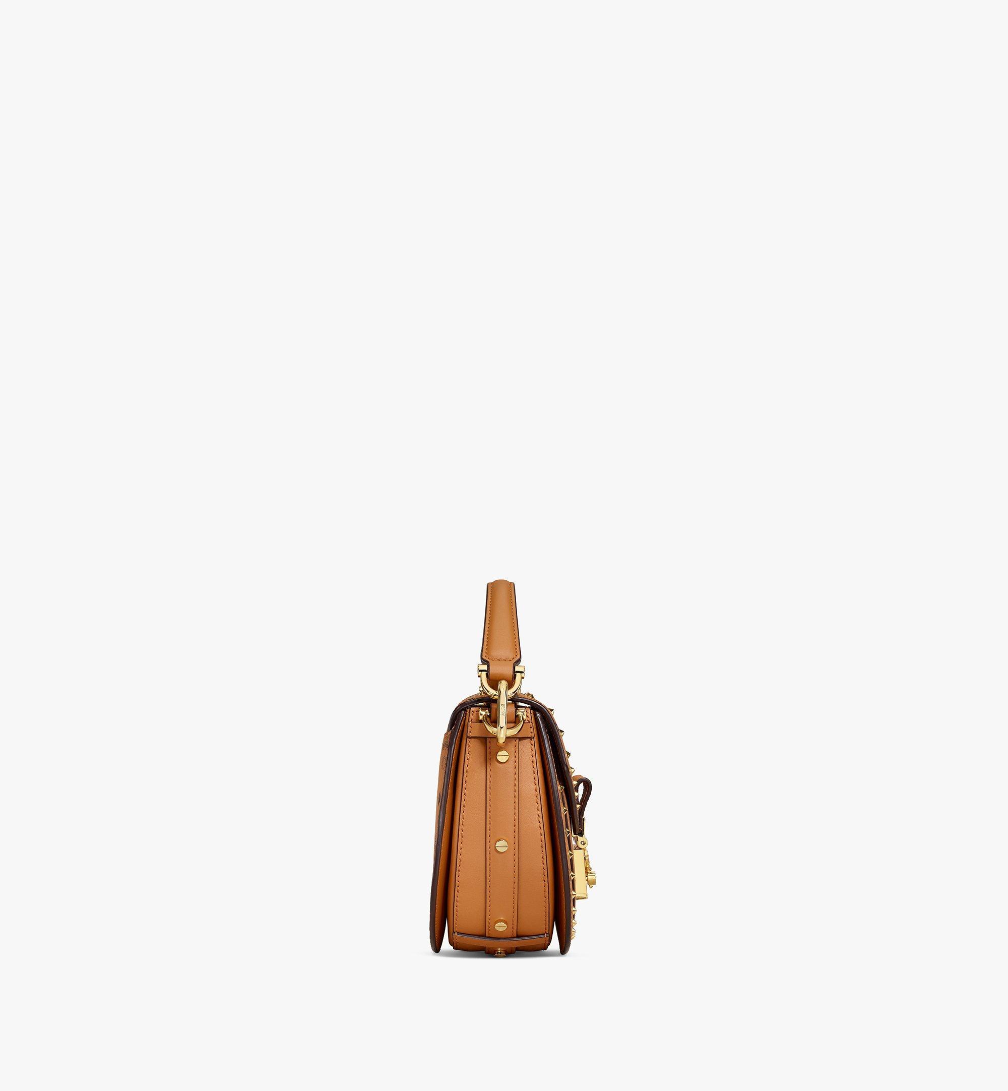 MCM Patricia Shoulder Bag in Studded Outline Visetos Cognac MWSAAPA04CO001 Alternate View 1