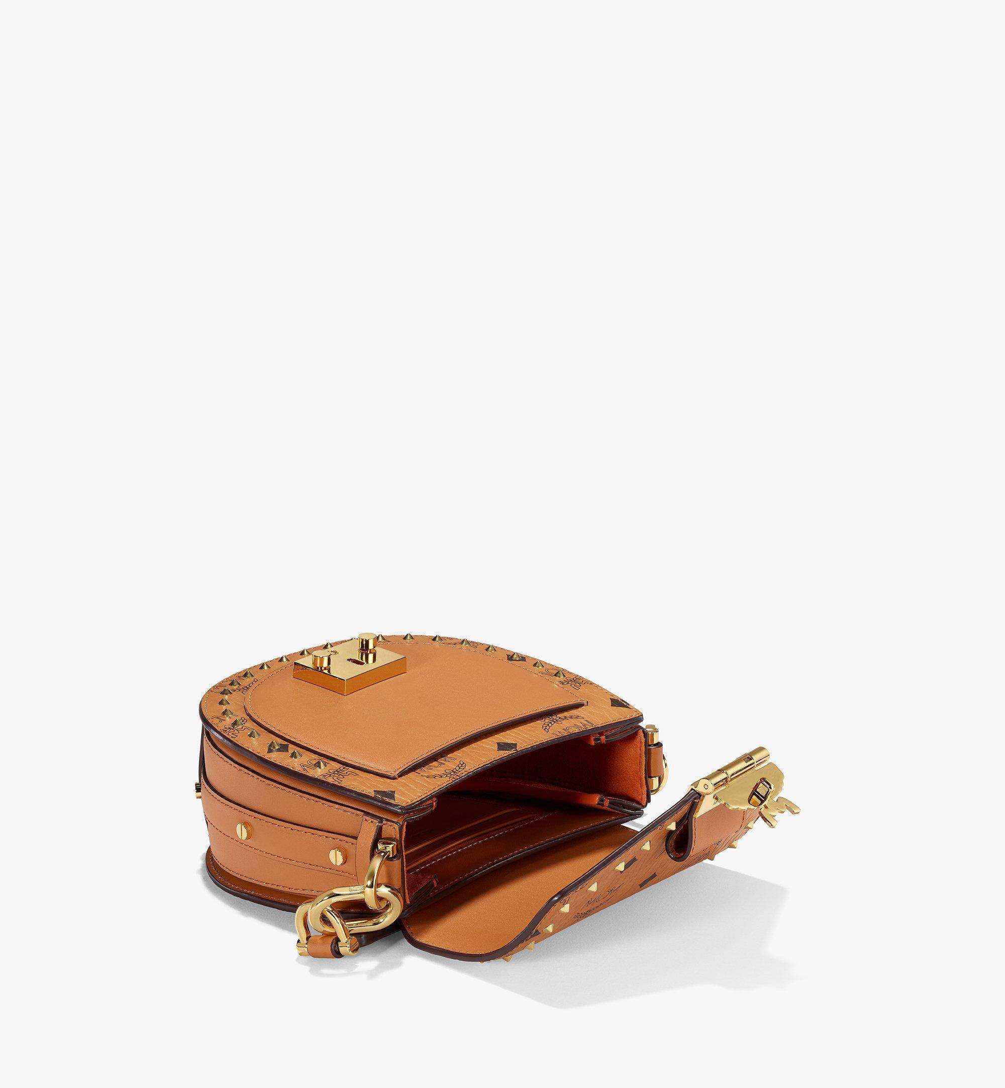 MCM Patricia Shoulder Bag in Studded Outline Visetos Cognac MWSAAPA04CO001 Alternate View 2