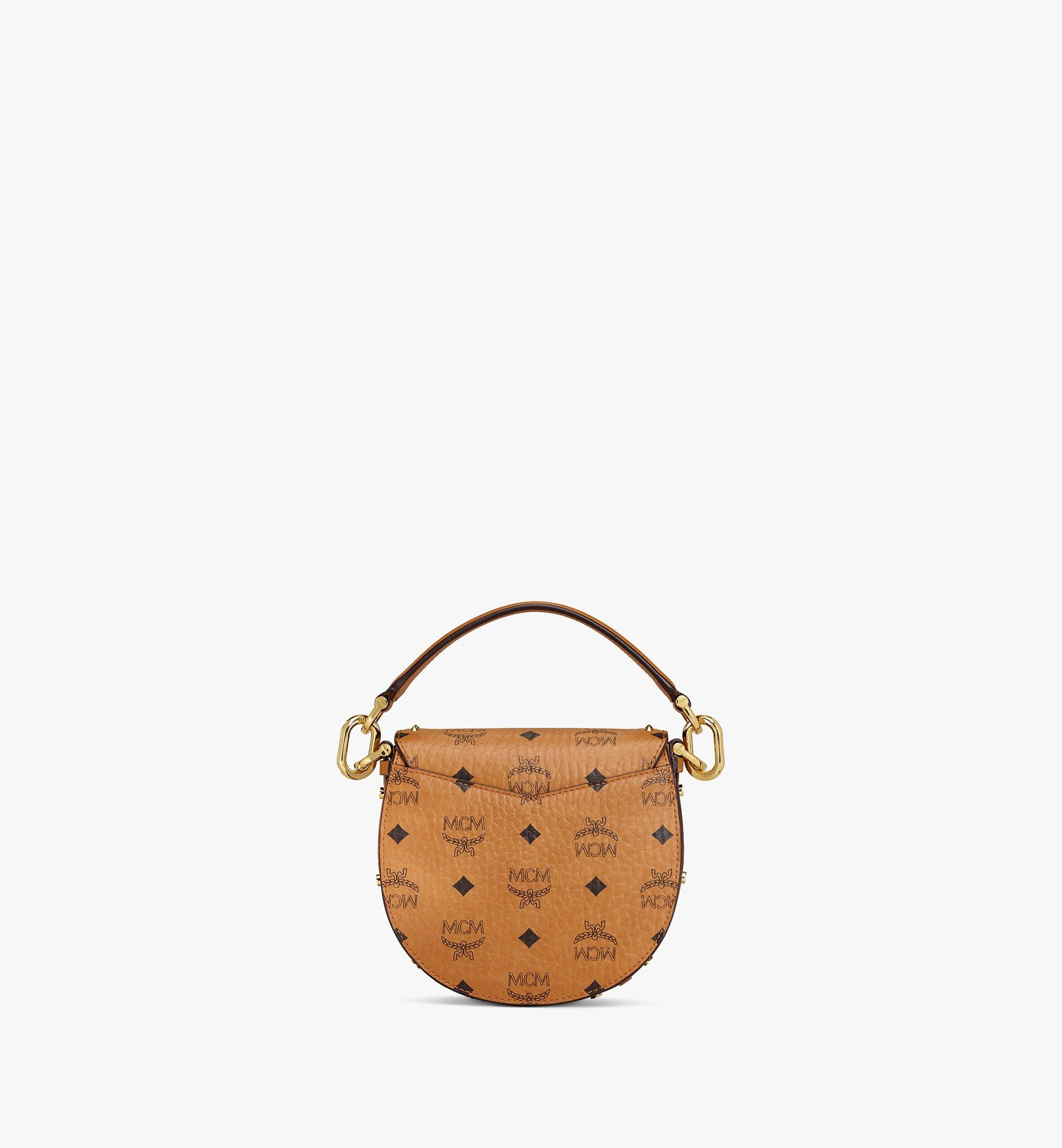 MCM Patricia Shoulder Bag in Studded Outline Visetos Cognac MWSAAPA04CO001 Alternate View 3