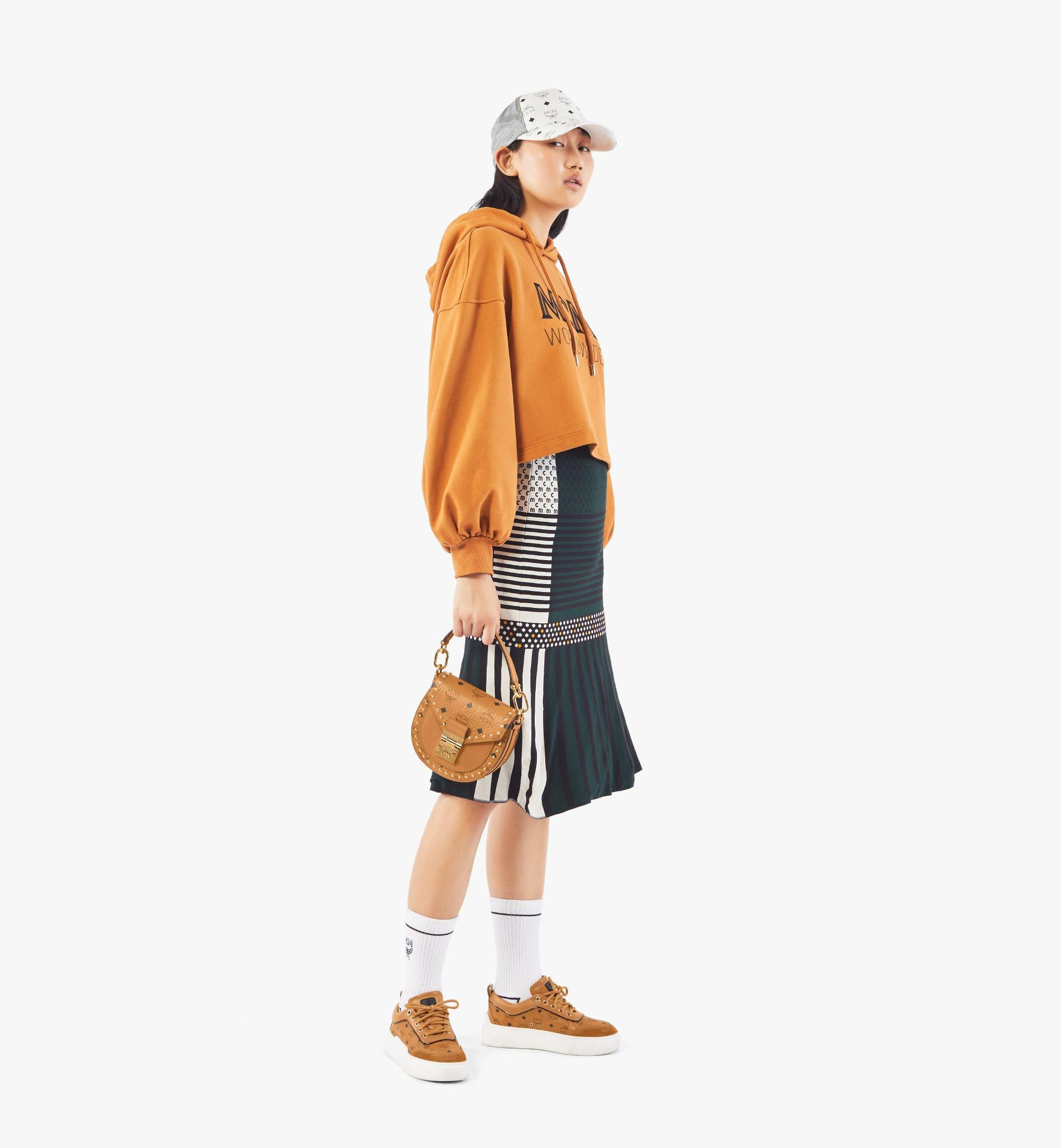 MCM Patricia Shoulder Bag in Studded Outline Visetos Cognac MWSAAPA04CO001 Alternate View 4