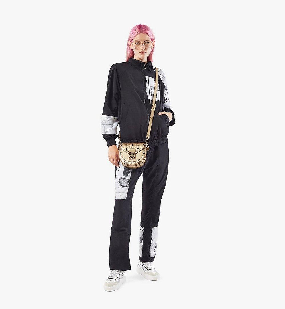 MCM Patricia Shoulder Bag in Studded Outline Visetos Gold MWSAAPA05T1001 Alternate View 3