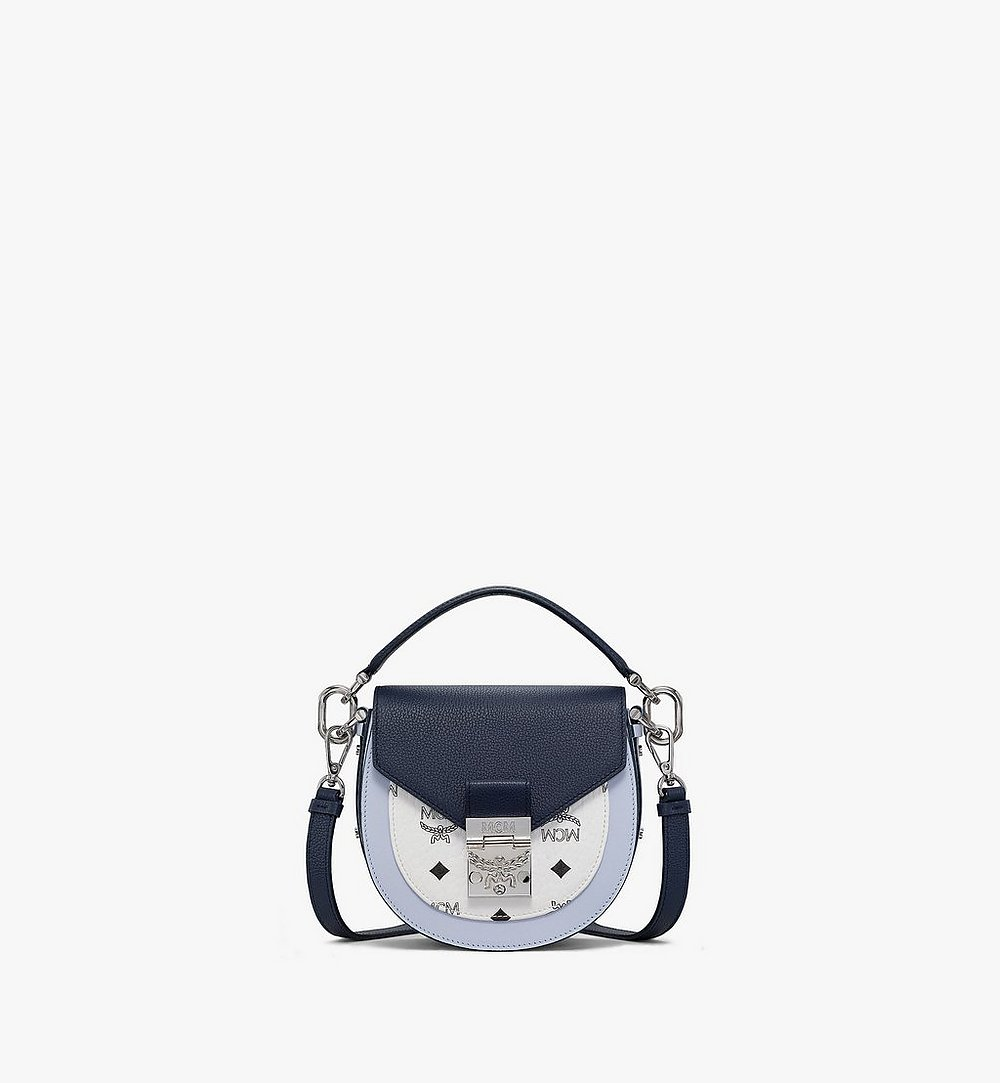 MCM Patricia Shoulder Bag in Color Block Visetos Blue MWSAAPA08VW001 Alternate View 1