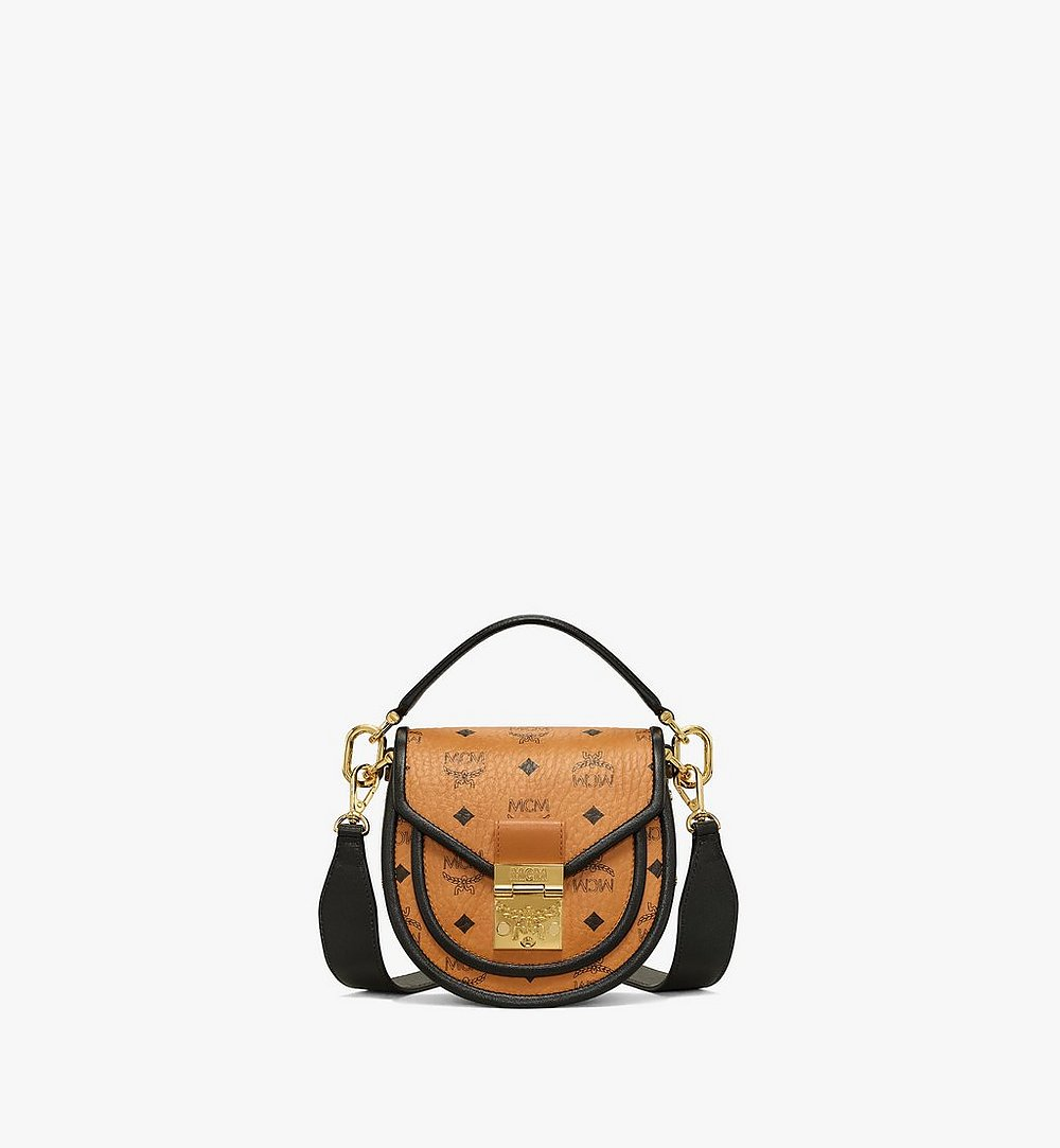 MCM Patricia Shoulder Bag in Visetos Leather Block Cognac MWSAAPA09CO001 Alternate View 1