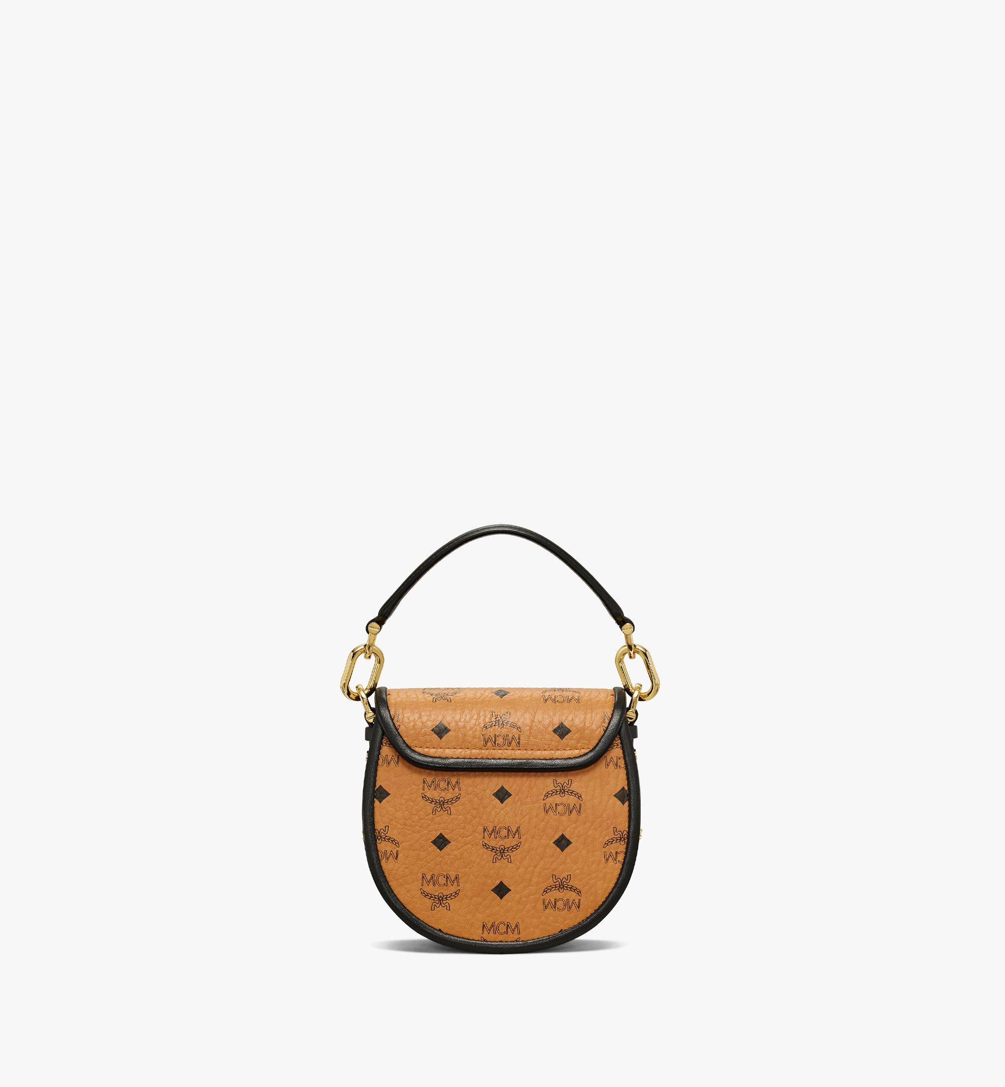 MCM Patricia Shoulder Bag in Visetos Leather Block Cognac MWSAAPA09CO001 Alternate View 3