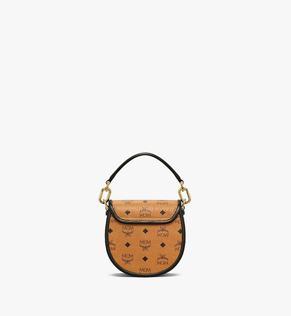 MCM Patricia Shoulder Bag in Visetos Leather Block Cognac MWSAAPA09CO001 Alternate View 3