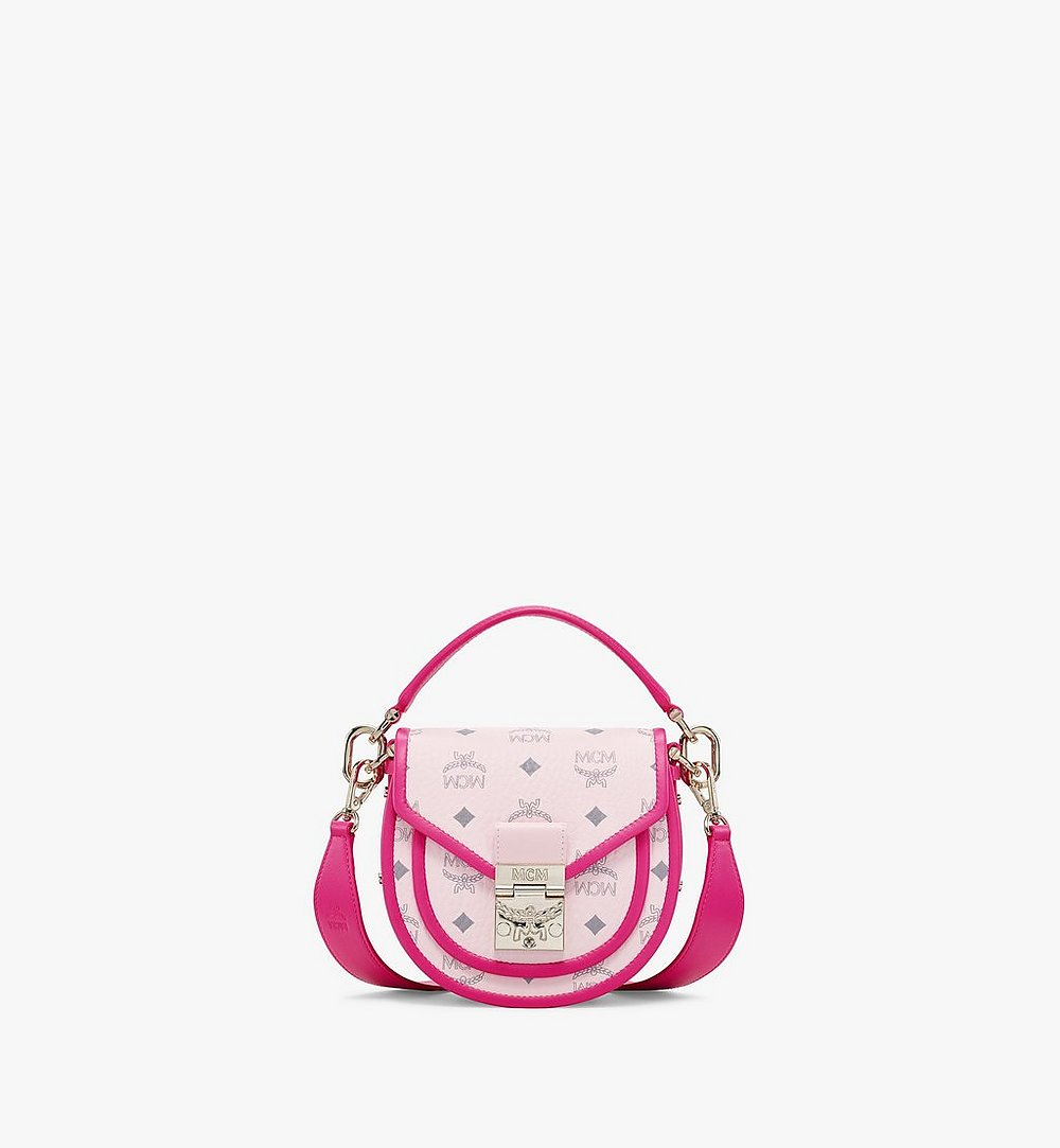 MCM Patricia Shoulder Bag in Visetos Leather Block Pink MWSAAPA09QH001 Alternate View 1