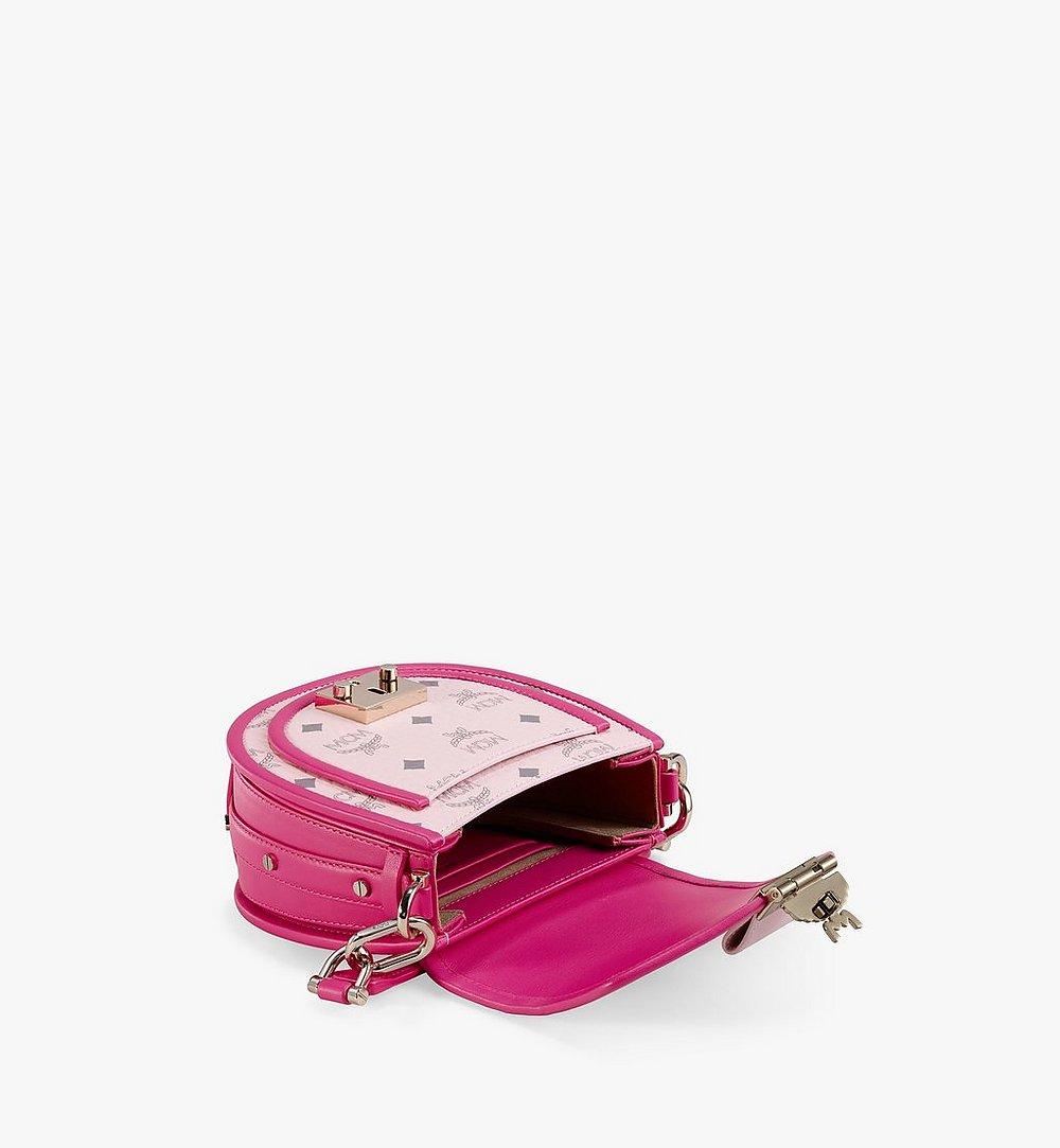 MCM Patricia Schultertasche in Visetos Leather Block Pink MWSAAPA09QH001 Noch mehr sehen 2