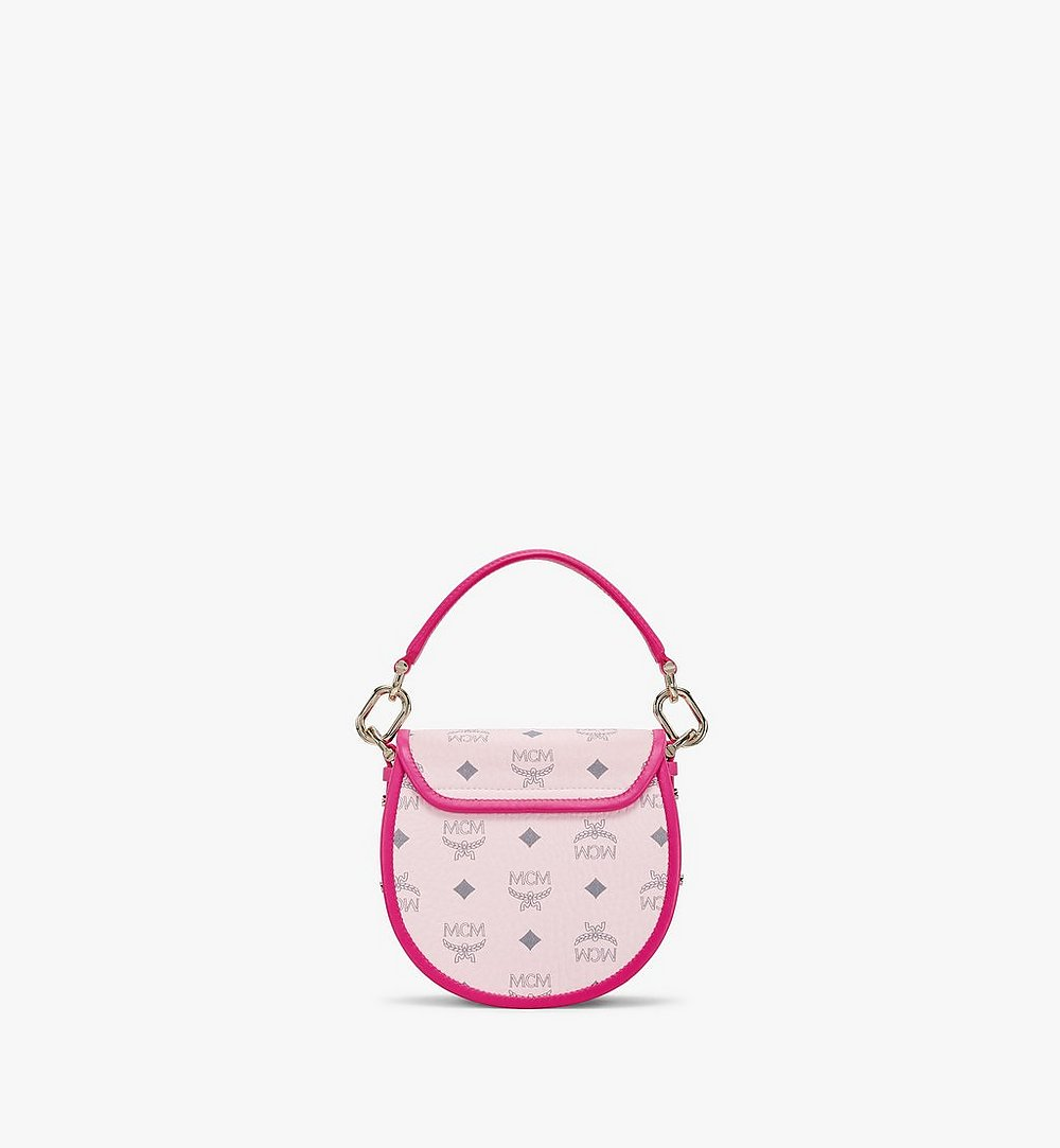 MCM Patricia Shoulder Bag in Visetos Leather Block Pink MWSAAPA09QH001 Alternate View 3