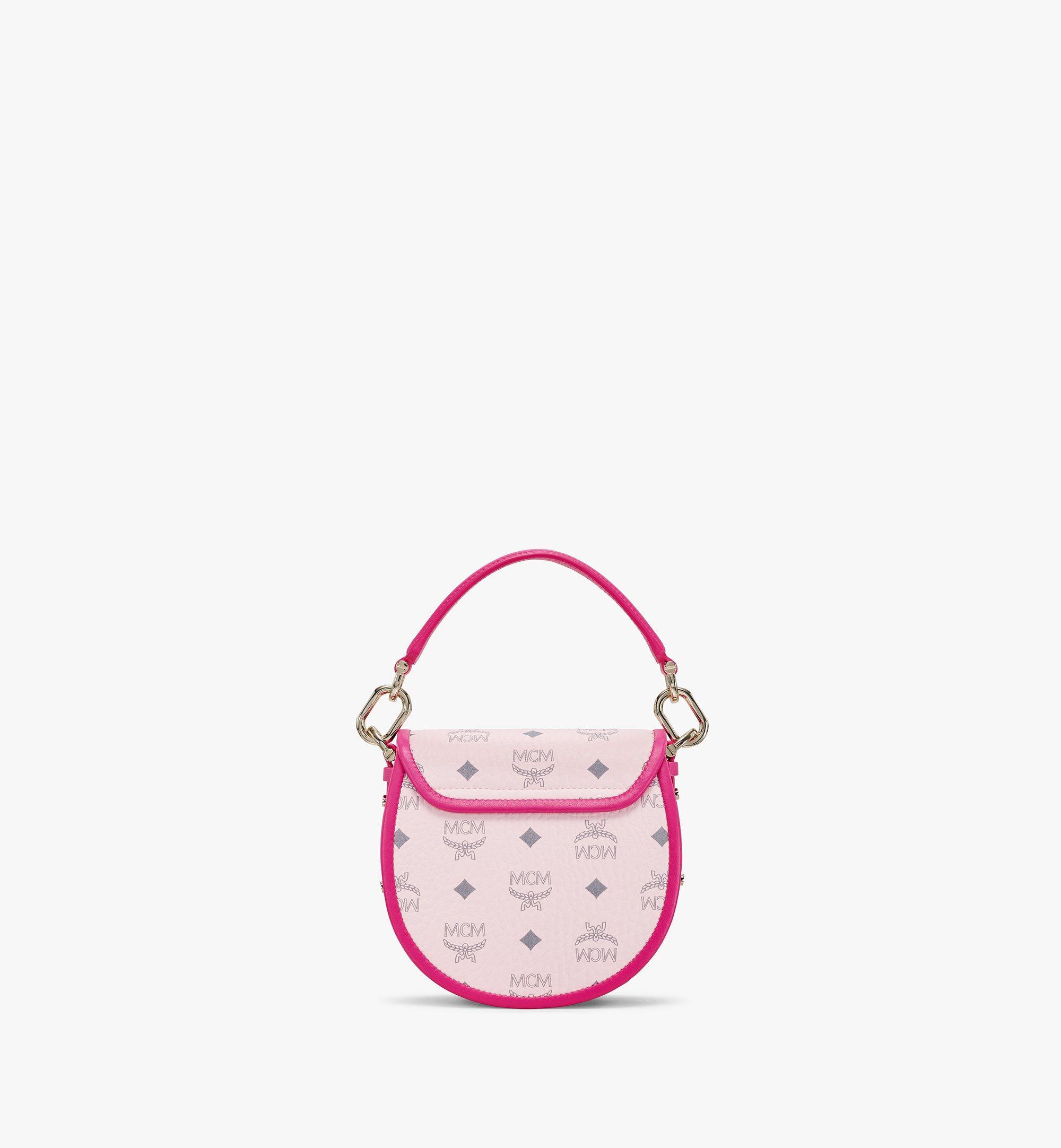 MCM Patricia Shoulder Bag in Visetos Leather Block Pink MWSAAPA09QH001 Alternate View 4