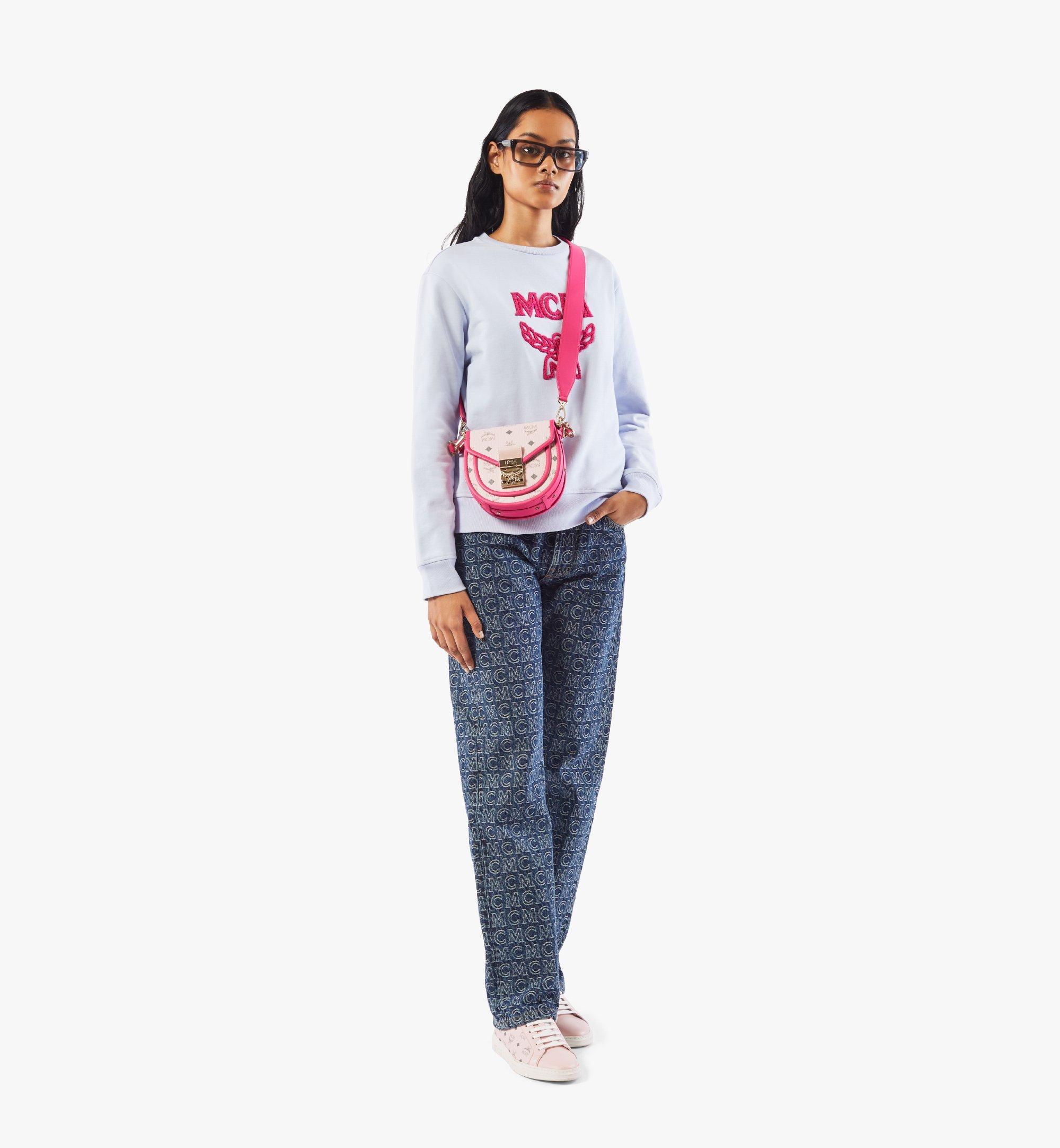 MCM Patricia Shoulder Bag in Visetos Leather Block Pink MWSAAPA09QH001 Alternate View 5